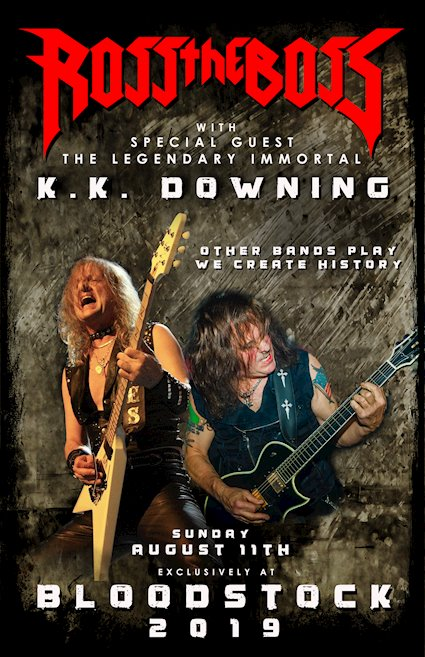 ROSS THE BOSS / KK DOWNING - PETE'S ROCK NEWS AND VIEWS